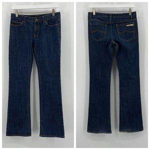 Michael Michael Kors Dark Med Wash Bootcut Jeans